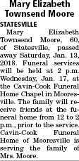 Obituary for Mary Elizabeth Townsend Moore